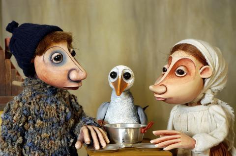 Vom Fischer und seiner Frau, Moussong Theater mit Figuren