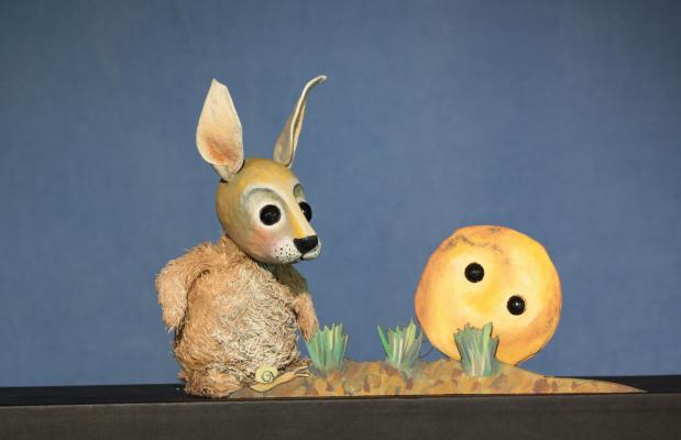 Der Pfannkuchen und der Hase 1,Moussong Theater mit Figuren